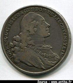 THALER Argt Joseph WENZEL  1748-1772   27,79 gr  RARETE