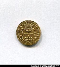 1000 REIS Or JOSE Ier 1750-1777 Lisbonne Trace de bélière 1,84gr
