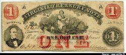 1 Dollar Virginia Treasury Note  Richmond