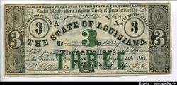 3 Dollars 	The State of Louisiana