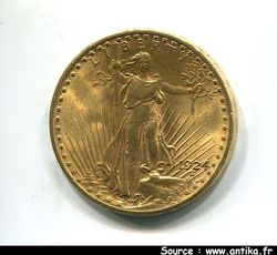 20 DOLLARS STATUE DE LA  LIBERTE 33,43 gr