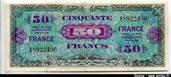 50 FRANCS Verso \