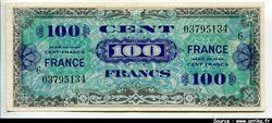 100 FRANCS Verso \