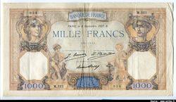 1000 FRANCS CERES & MERCURE - Type 1927