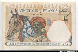 25 FRANCS Cavalier Touareg & Lion