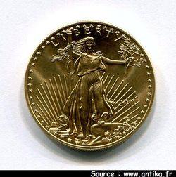 50 DOLLARS Statue de la Liberté ST Gaudens  33,93  gr  1 OZ