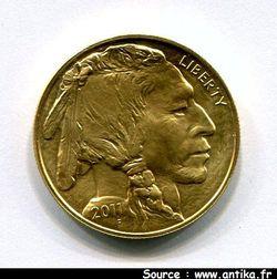 50 DOLLARS INDIEN & Buffle 33,93 gr 1 OZ  999°/°°