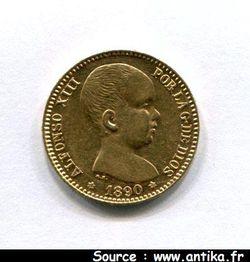 20 PESETAS ALPHONSE XIII Madrid 6,44 gr
