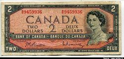 2 Dollars Elizabeth & Campagne du Québec