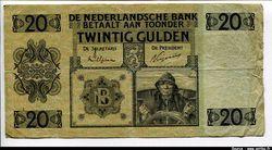 20 Gulden Pêcheur   RARETE