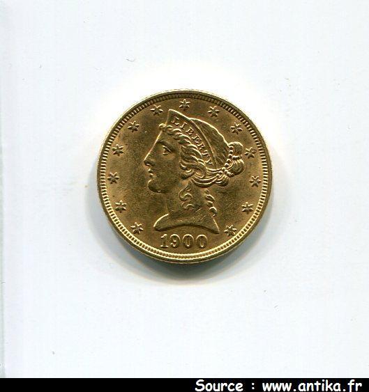 5 DOLLARS LIBERTY  8,35 gr