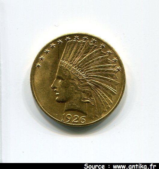 10 DOLLARS INDIEN 16,70 gr