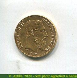 20 FRANCS LEOPOLD II    6,44 gr