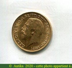 1/2 SOUVERAIN GEORGES V  3,99 gr